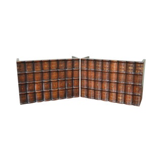 Maitland Smith Pair of Solid Wood Faux Books