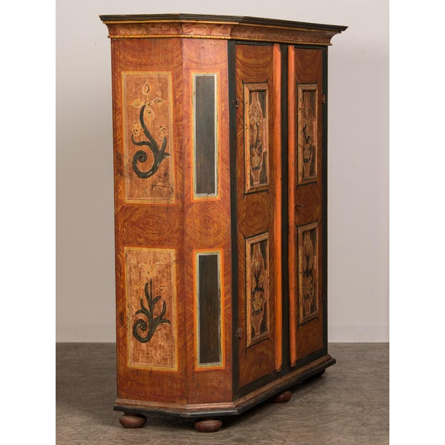 Antique German Hand Painted Dowry Cabinet, Two Doors, circa 1800 - Image 3 of 11