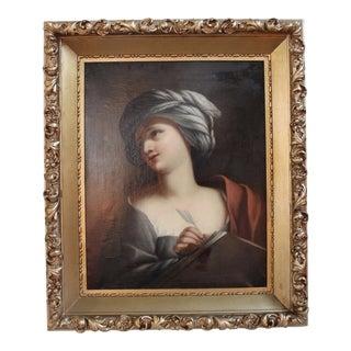 "Framed ""A Sybil"" Hand-Painted Copy"