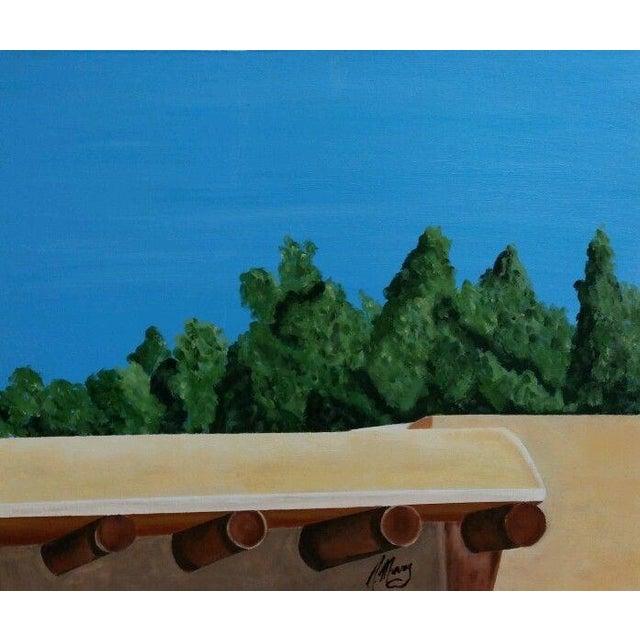 Santa Fe Skyline Signed Original Acrylic Canvas - Image 1 of 6