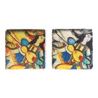 Ottomon Musician Women Coasters -A Pair