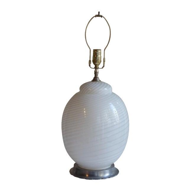 White Murano Table Lamp - Image 1 of 4