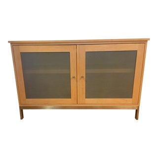 Room and Board Maple and Steel Linear Cabinet