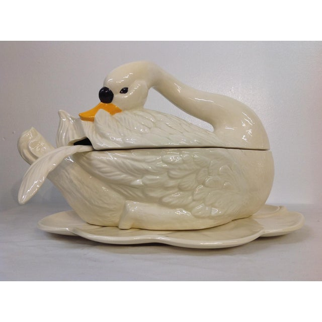 Image of Vintage Swan Soup Tureen - Set of 4