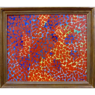 """""""Dancing Red Dots"""" Painting by Martha Holden"""