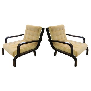 A pair of 1940s Italian design armchairs