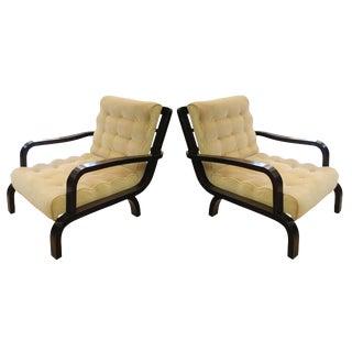 A pair of 1940s Italian design armchairs