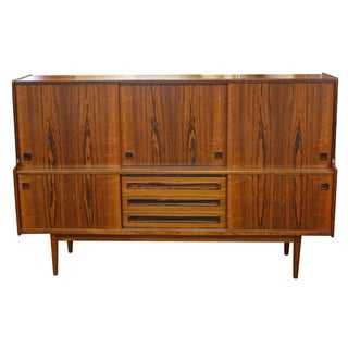 Mid-Century Rosewood Sideboard Hutch