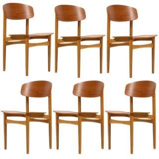 Børge Mogensen Model 122 Chairs by Søborg - Set of 5