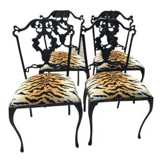 French Garden Chairs - Set of 4