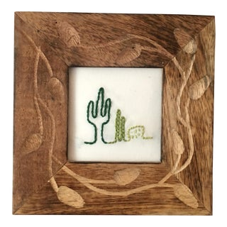 Boho Chic Cactus Embroidery