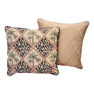 Animal Print Palm Trees Pillows - a Pair