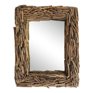 "30"" Natural Driftwood Wall Mirror"