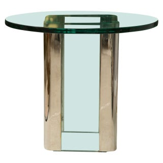 Pace Chrome & Glass Side Table