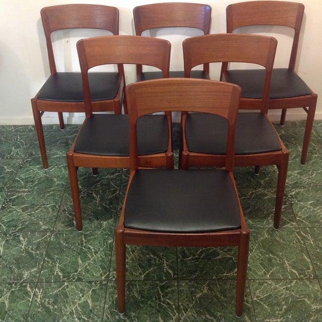 Mid Century Dining Room Chairs: Danish Mid-Century Teak Dining Room Chairs - S/6