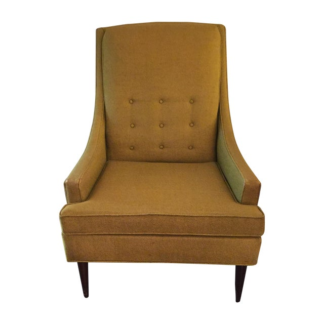 Midcentury Modern High Back Arm Chair - Image 1 of 8