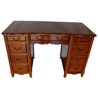Vintage Cherry Kneehole Desk by Sligh-Lowry