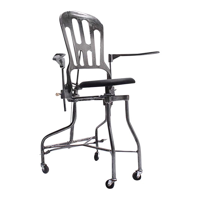 1930s Vintage Adjustable Dental Chair - Image 1 of 8