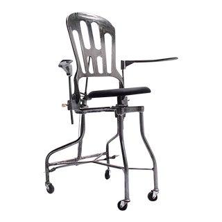 1930s Vintage Adjustable Dental Chair