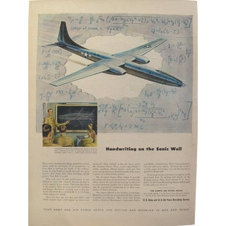 Handwriting on the Sonic Wall, Vintage U.S. Air Force Recruiting Advertisement