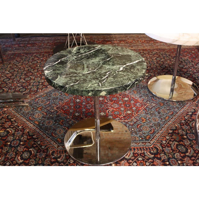 Zographos Side Table with Green Marble Top - Image 2 of 5
