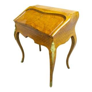 Antique French Parquetry Secretary Desk