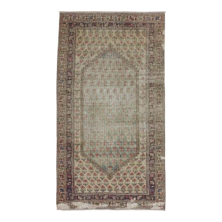 Turkish Hand Knotted Distressed Rug - 3′11″ × 7′2″