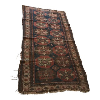 Vintage Hand Woven Rug Wall Hanging - 3′6″ × 7′6″