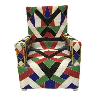 African Beaded Nigerian Chair