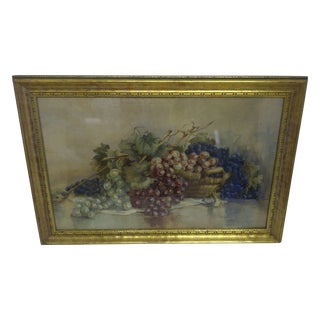 """Grapes,"" Victorian Painting"