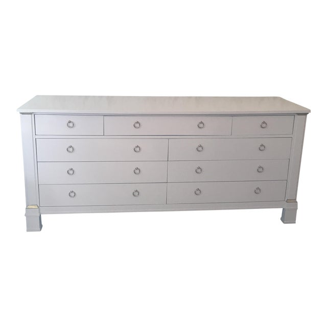 Vintage Baker Dresser With Brass Accents - Image 1 of 10