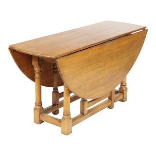 1920s Jacobean-Style Gateleg Table