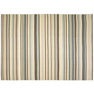 "Striped Egyptian Kilim Rug, 9'7"" x 13'9"""