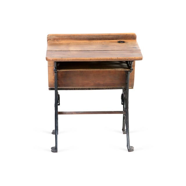 Antique Country School Desk - Image 2 of 5