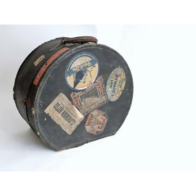 European Depression Era Travel Decals Hat Box - Image 2 of 6