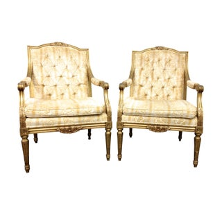 Hollywood Regency Arm Chairs - A Pair