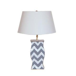 Grey Bargello Table Lamp