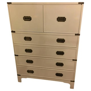 Beacon Hill Campaign White Lacquered Chest of Drawers