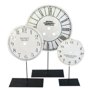 Porcelain Clock Faces on Stands - Set 3