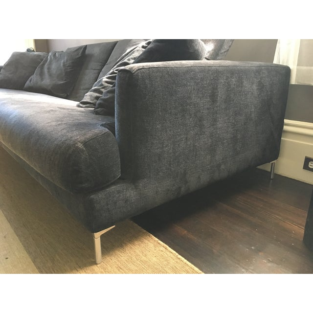 B&B Italia Black Sofa - Image 6 of 7