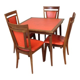 Stakmore Wood Game Table & Chairs
