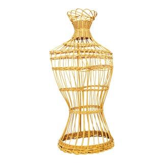 Rattan Torso Dress Form Torso