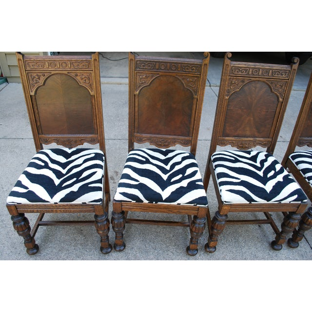 Oak Dining Room Chairs - Set of 6 - Image 5 of 11