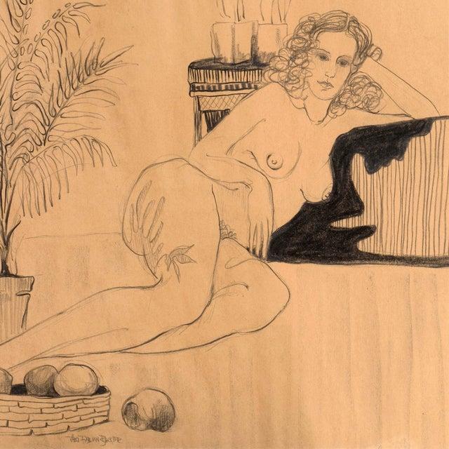 Fabian Becker Reclining Nude Drawing - Image 3 of 6