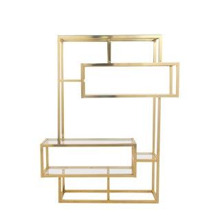 Mid Century Modern Gold Etagere