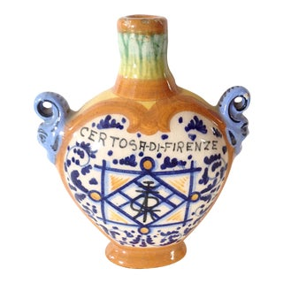 Blue and Orange Italian Bottle