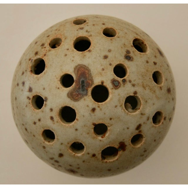 Artisan Pottery Flower Frog or Sculpture - Image 4 of 6