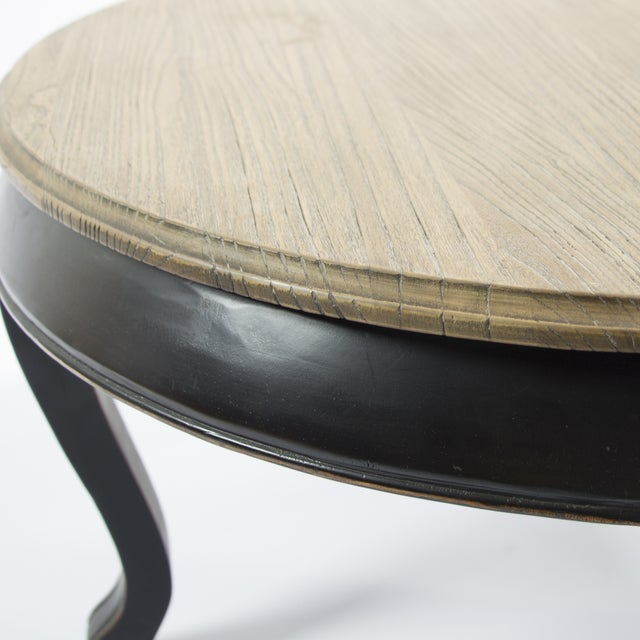 Image of Round Reclaimed Wood Coffee Table