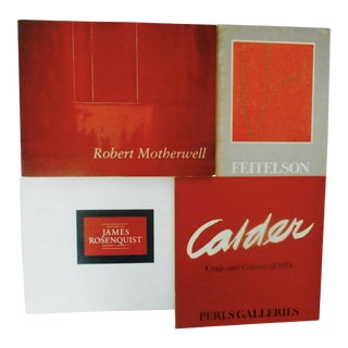 Seeing Red: Four Vintage Modern Artist Catalogues - Set of 4