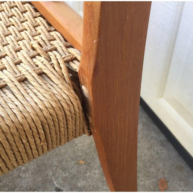 Danish Teak Dining Chairs W/Rope Seats - Set of 5 - Image 9 of 9
